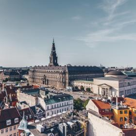 The Danish parliament building Christiansborg Palace